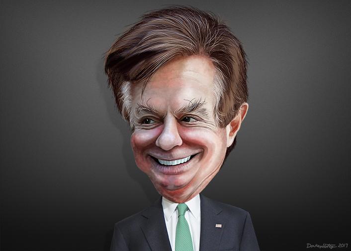 Paul Manafort Caricature