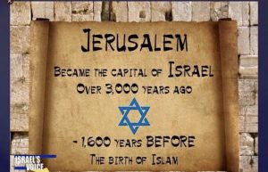 Jerusalem is the capital of Israel Trump acknowledged reality