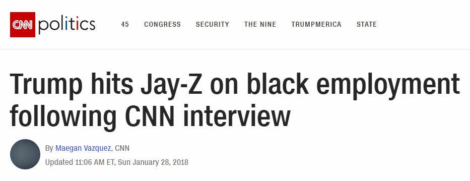 CNN headlines black unemplolyment