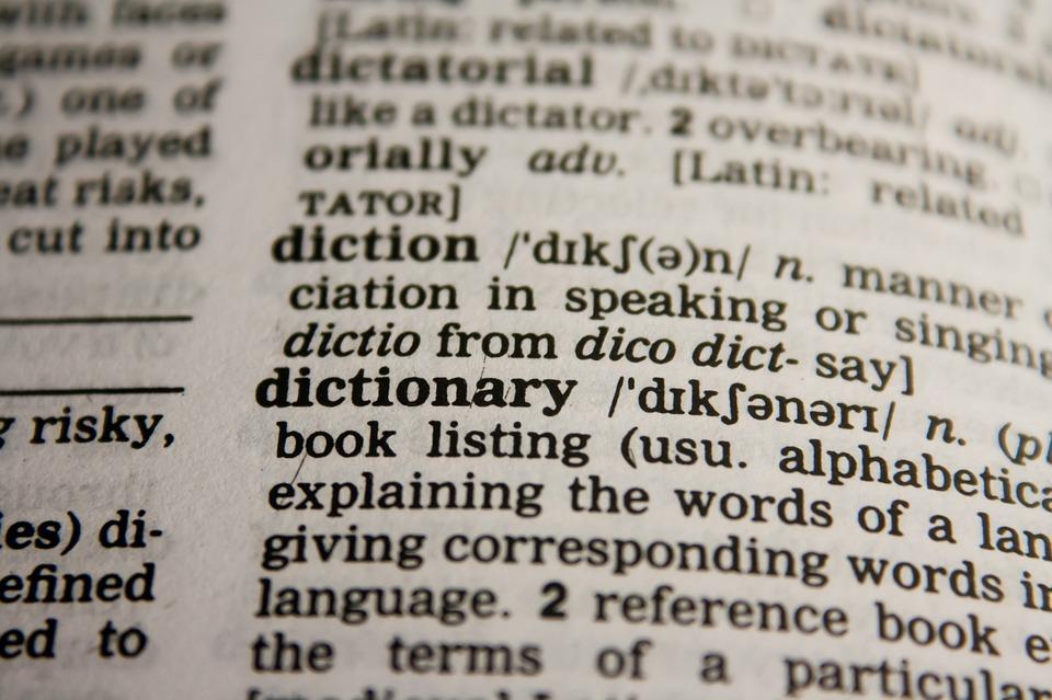 Dictionary word association