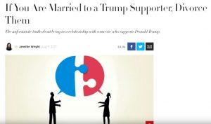 Divorce Trump Supporters