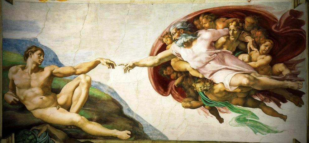 Michelangelo God Adam Creation Atheism Atheists