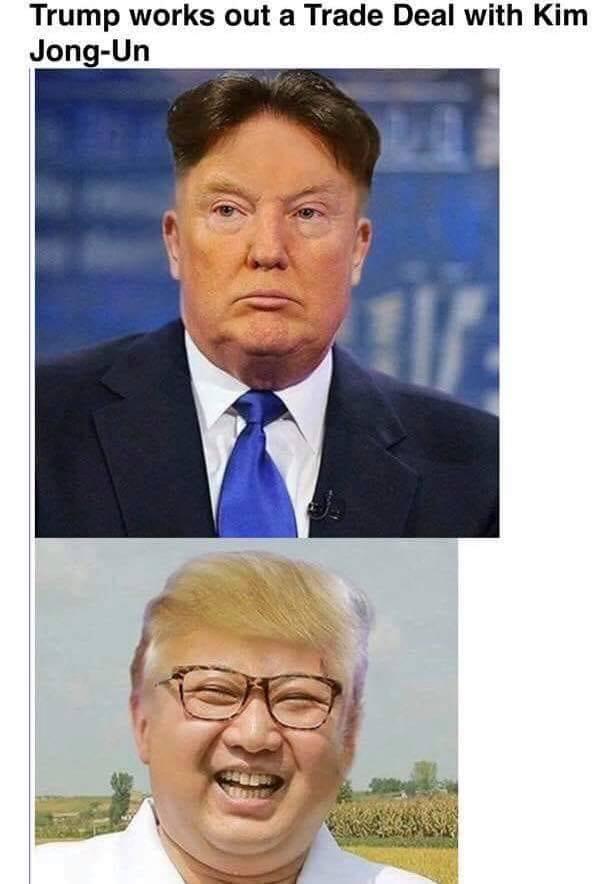Trump And Kim Jong Un Trade Hair Bookworm Room