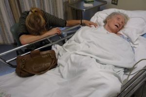 Elderly person passing away. This is not euthanasia