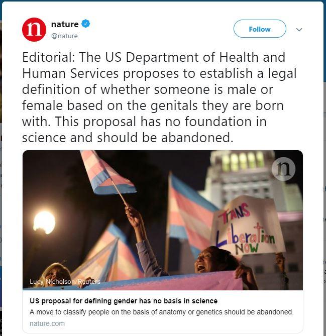 Nature Magazine gender madness