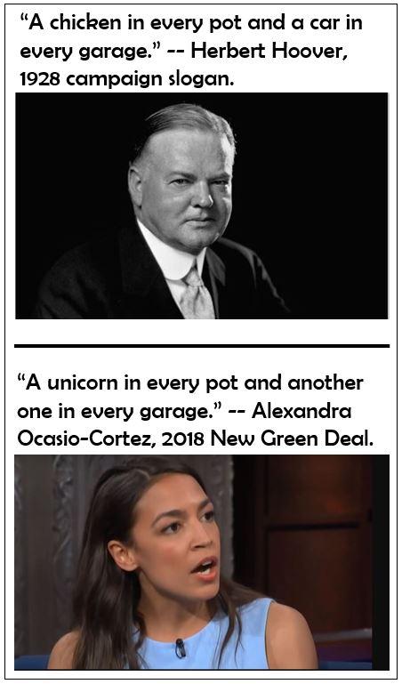 Alexandria Ocasio-Cortez New Green Deal Unicorn Chicken Pot Hoover