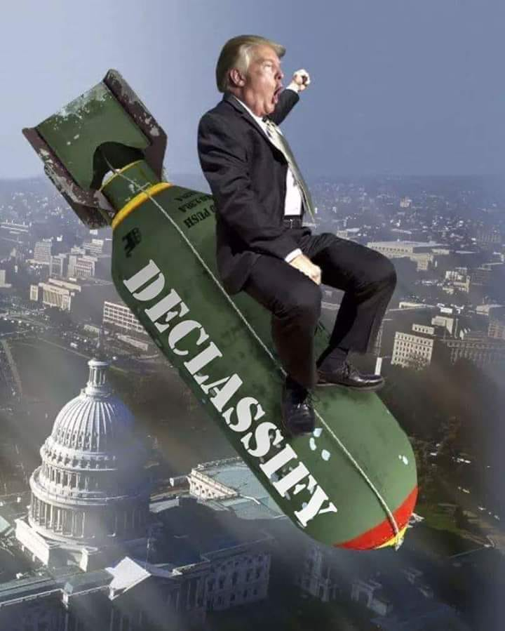 Illustrated edition Trump declassify