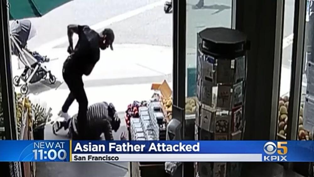Black man attacks Asian man